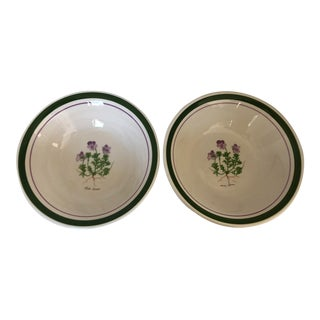 Modern Himark Viola Cenisia Made in Italy Set of 2 Serving Bowls For Sale