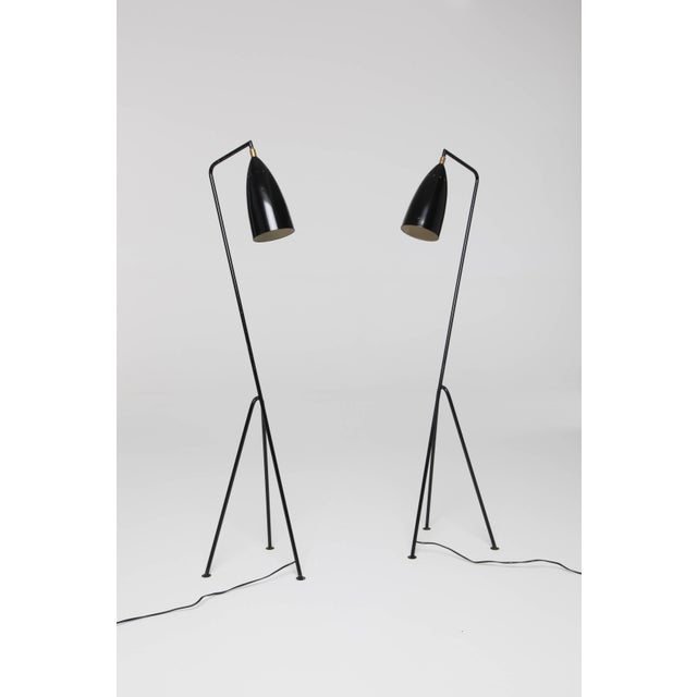Pair of Mid-Century 'Grasshopper' Floor Lamps in the Manner of Greta Grossman - Price Per Lamp For Sale - Image 9 of 10