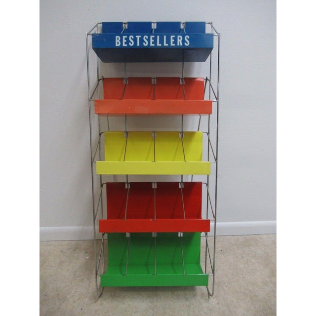 Vintage Chrome Multicolor Book Rack - Image 2 of 11