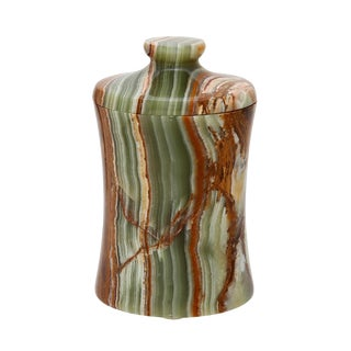 Green Marble Cannister For Sale