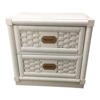 Lacquered Dixie Wicker Weave Campaign Chest