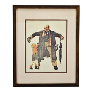 Vintage Framed Norman Rockwell Print the Gift For Sale