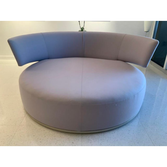 "Stunning circular swivel sofa ""Amoenus"" designed by Antonio Citterio for the Maxalto Collection for B&B, Italia, The..."
