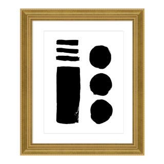 Modern Geometry by Ilana Greenberg in Gold Frame, Small Art Print For Sale