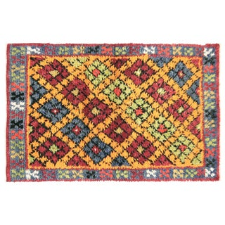 "Nalbandian - 1960s Turkish Geometrical Tulu Carpet - 2'7"" X 4'1"" For Sale"