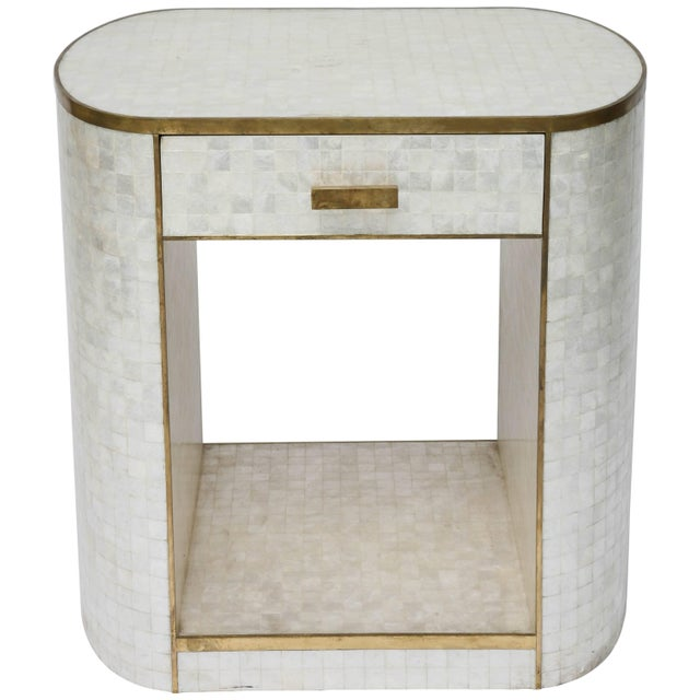 Capiz Shell and Antiqued Brass Cabinet by Platt Collections For Sale - Image 11 of 11