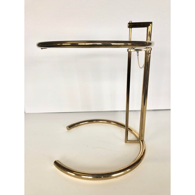 Contemporary 1970s Eileen Gray Modern Brass Side Table For Sale - Image 3 of 6