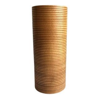 Mid-Century Wood Vase