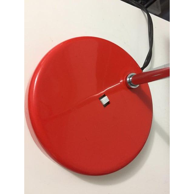 1960s Groovy Red Lightolier Desk Lamp, C. 1969, Mid-Century Modern, Pop Inspired For Sale - Image 5 of 7