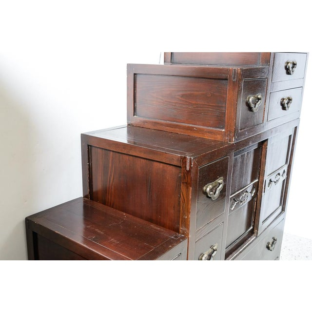 Asian Japanese Step Chest For Sale - Image 3 of 6