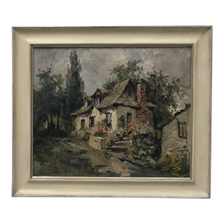 Original Antique French Oil Painting