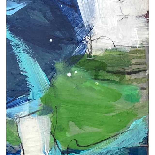 """Mixed Media Painting by Gina Cochran """"In Her Wake"""" Original Art For Sale - Image 4 of 5"""