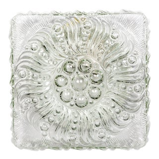 Mid-Century Radial Bloom Glass Flush Mount For Sale