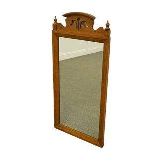 Tell City Solid Hard Rock Maple Colonial / Country French Dresser / Wall Mirror For Sale