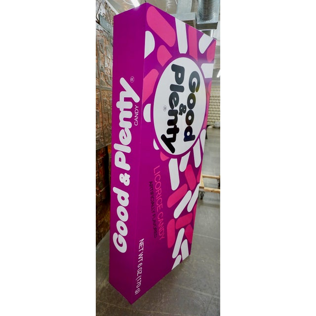 """Pop Art Supersized """"Good&Plenty"""" Licorice Candy Box For Sale In Palm Springs - Image 6 of 7"""