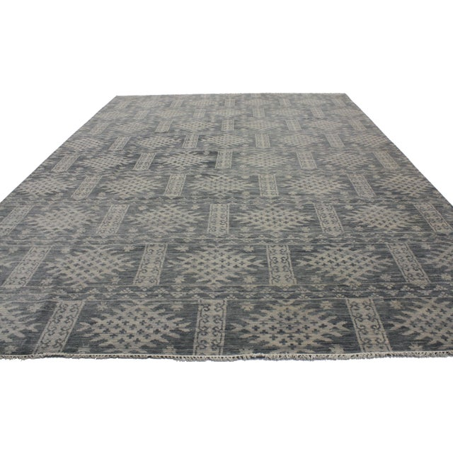 Transitional Gray Area Rug - 10' X 14' - Image 3 of 3