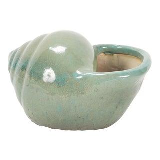 Glazed Ceramic Shell Form Vase Centrepiece For Sale