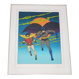 "Bob Kane ""Batman and Robin"" Lithograph C.1978 Artist Proof For Sale"