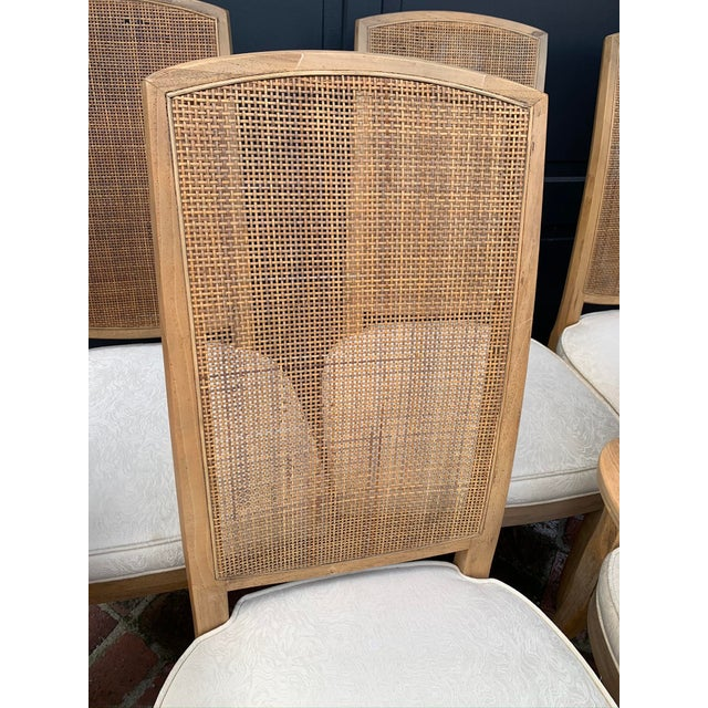 Mid 20th Century Mid-Century Tall Cane Back Dining Chairs - Set of 6 For Sale - Image 5 of 10