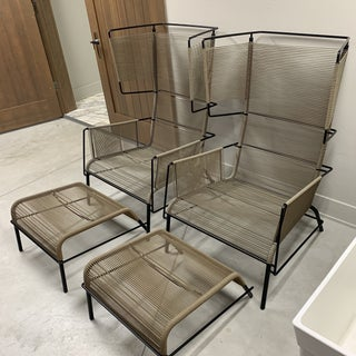 """Mid-Century Modern Dogg & Arnved Studio for Ligne Roset """"Fifty"""" Outdoor Armchairs and Ottomans - 4 Pieces Preview"""