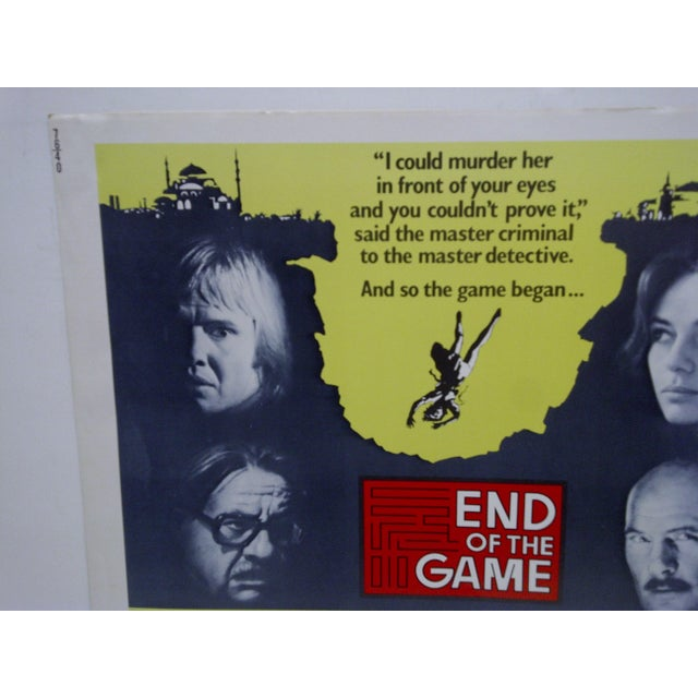 """This is a Vintage Movie Poster -- Titled """"End Of The Game"""" -- 76/40 -- Starring Jon Voight And Jacqueline Bisset --..."""