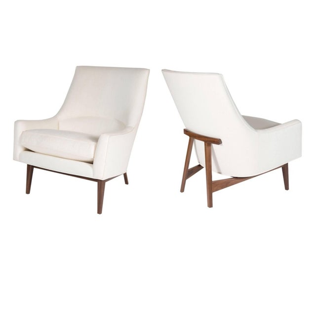 Pair of Cedrick Lounge Chairs For Sale In New York - Image 6 of 6