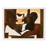 """Image of P. Picasso, """"Still Life With Antique Head"""" Original Period Swiss Lithograph For Sale"""