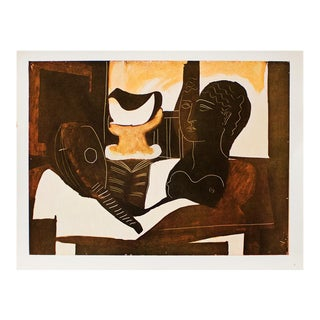 """P. Picasso, """"Still Life With Antique Head"""" Original Period Swiss Lithograph For Sale"""