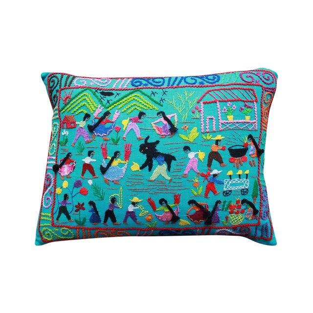 La Fiesta en El Pueblo Pillow - Image 1 of 3