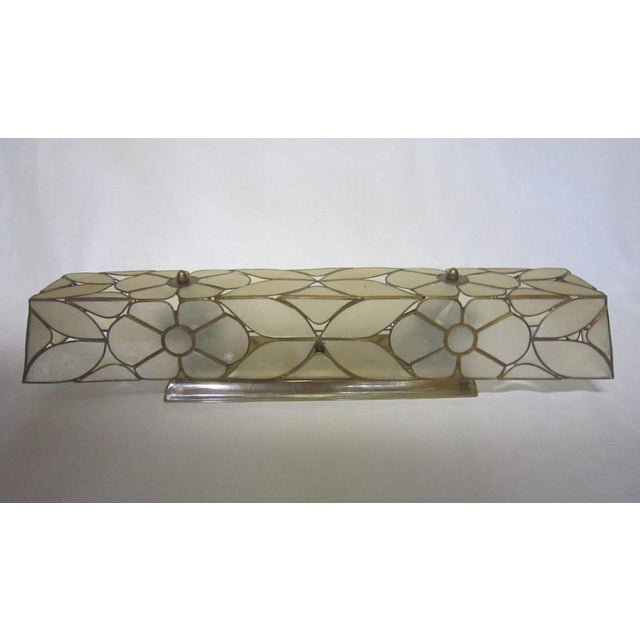Hollywood Regency Capiz Shell Vanity Light For Sale - Image 3 of 5