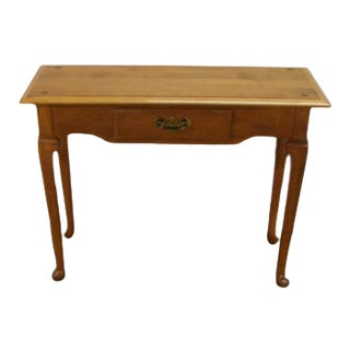 Ethan Allen Solid Maple Console Table For Sale