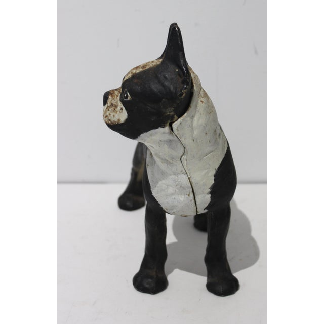 Vintage Hubley Style Boston Terrier Dog 2-piece Cast Iron Doorstop Door Stop from a Palm Beach estate. This is cleanly...