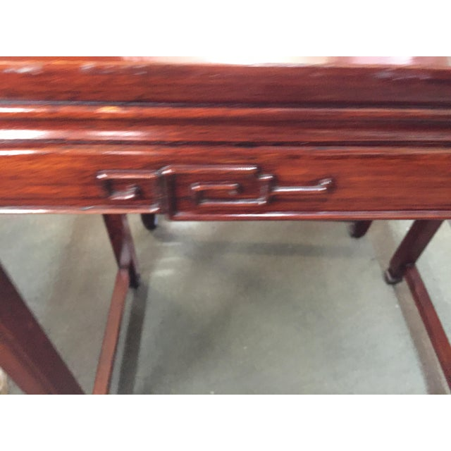 Brown Set of Rosewood Nesting Tables For Sale - Image 8 of 13