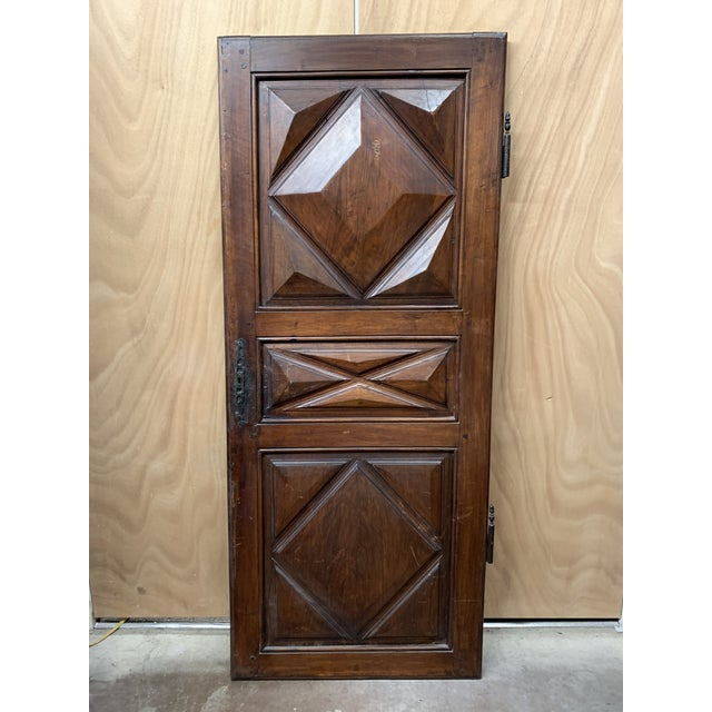 Late 18th Century Late 18th C Antique French Oak Armoire Doors - a Pair For Sale - Image 5 of 13