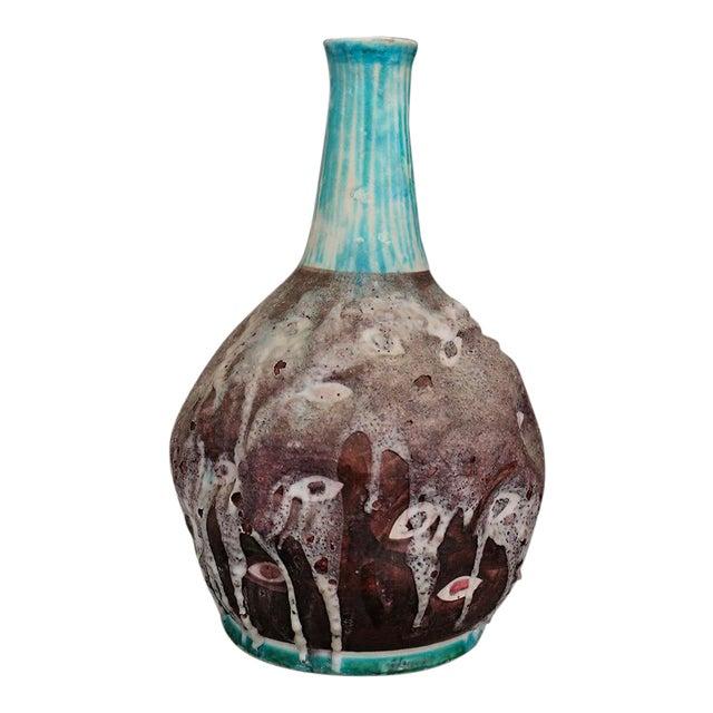 Italian Ceramic Vase MidCentury Enamelled by c.a.s. Vietri, Italy, 1950s For Sale