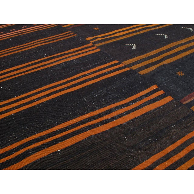 Islamic Two-Panel Kilim with Stripes For Sale - Image 3 of 9