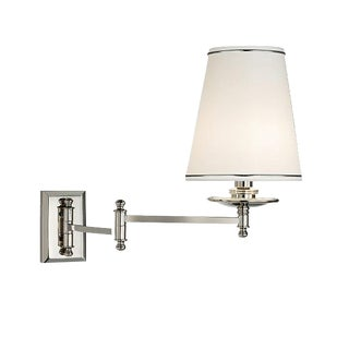 Dorchester Polished Nickel Chrome Bathroom Wall Light with Shade For Sale