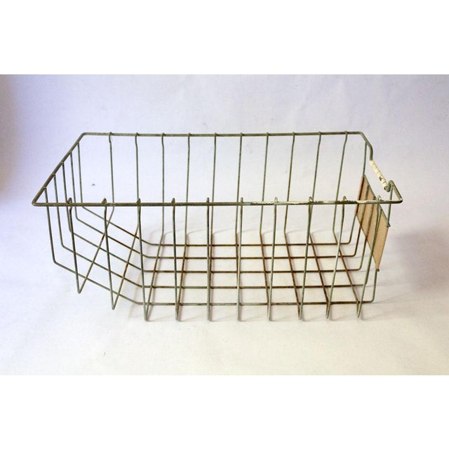 Industrial Vintage Mid Century Wire Basket For Sale - Image 3 of 13