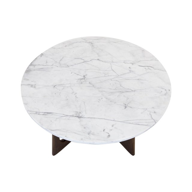 Adrian Pearsall Marble Top Coffee Table For Sale - Image 5 of 9