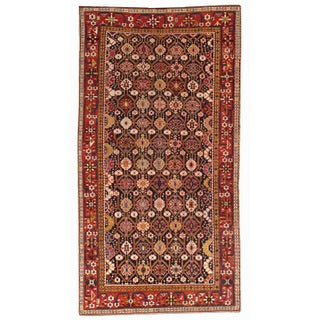 """Antique 1880s Hand Made Caucasian Karabagh Rug- 5'6"""" x 10'6"""" For Sale"""