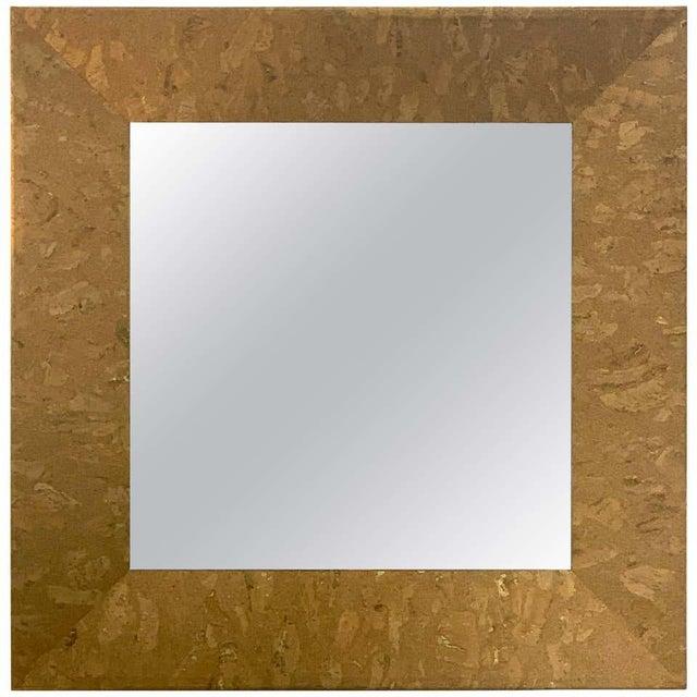 Mid-Century Modern Square Cork Mirror For Sale In Greensboro - Image 6 of 6