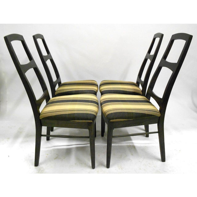 Mid-Century Black Teak Dining Chairs - Set of 6 - Image 7 of 8