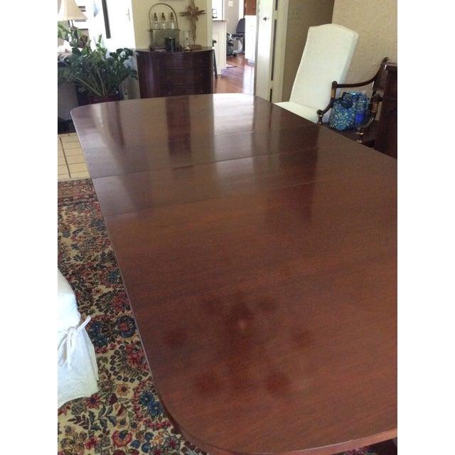 Duncan Phyfe Mahogany Dining Table - Image 5 of 6