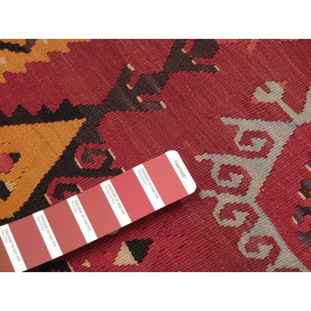 Textile Large Antique Sharkisla Kilim For Sale - Image 7 of 8