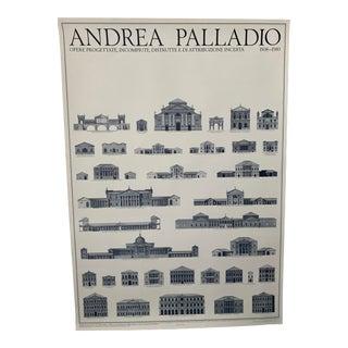 Italian Andrea Palladio Architecture Unframed Poster For Sale