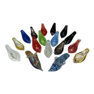 Collection of Murano Glass Slippers/Shoes - Set of 17 For Sale