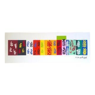 "Henri Matisse Oversized Authentic Fine Art Jazz Portfolio Silkscreen Print "" Les Velours "" 1947 For Sale"