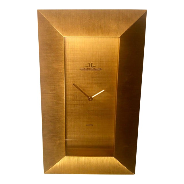 Jaeger-Le Couture Swiss Made Mid-Century Modern Desk Clock For Sale
