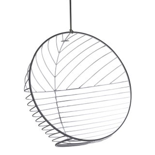 Bubble Hanging Swing Chair - Star Pattern - White For Sale