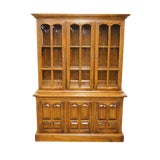 Image of Late 20th Century Vintage Ethan Allen Classic Manor Buffet China Cabinet For Sale
